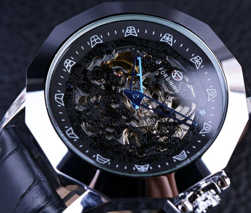 Forsining Blue Pointer Chinese Dragon Element Irregular Shape Mens Designer Watches Luxury Automatic Skeleton Watch Erkek Saat бутсы зальные nike nike ni464akaanw6