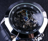 Forsining Blue Pointer Chinese Dragon Element Irregular Shape Mens Designer Watches Luxury Automatic Skeleton Watch Erkek
