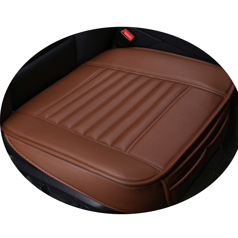 Car Seat Cushion Leather Charcoal Car pad 4 Seasons Wear-resistant Car-styling Auto Accessories All cars Free Shipping