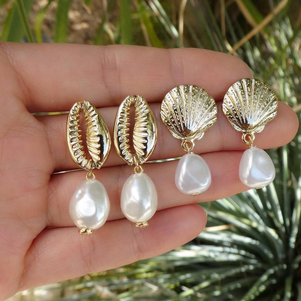Jewelry-Accessories Earring-Set Fashion Women Clothing Lips Irregular-Pearl-Pendant Female