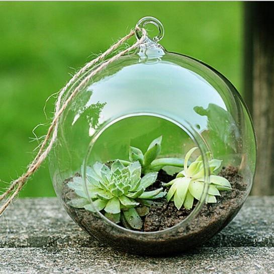 24 стиля стеклянная подвесная Ваза Бутылка Террариум гидропонный горшок Декор цветочные растения контейнер орнамент микро пейзаж DIY домашний декор - Цвет: 10cm