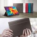 Ultra-delgado inteligente plegable de la pu cubierta de cuero para samsung galaxy tab s 10.5 t800 t805 tablet case + protector de pantalla gratuito + stylus pen
