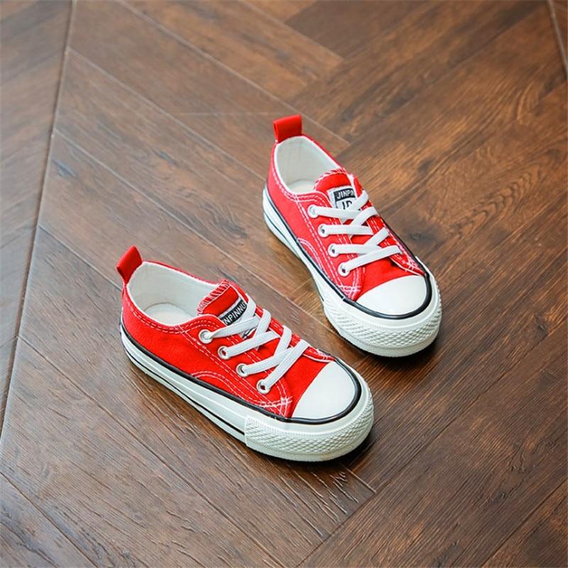 2019new Studente Scarpe Anti-sdrucciolevole Flats Scarpe Nero Rosso Bianco Verde Giallo Dei Bambini Sneakers Bambini Ragazzi Scarpe Di Tela Ragazze Texture Chiara