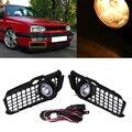 Carro-styling 1 par Auto Car Fog Driving Farol Conjunto Da Lâmpada de Luz de Circulação Diurna Para Volkswagen Golf 3 Halogênio/LED 2 Estilo