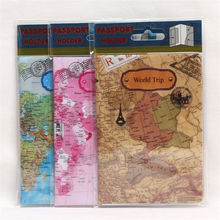 2019 New World Trip Map Travel Passport Covers for Men , PVC Leather ID Card Bag holder Wallets 14*10cm