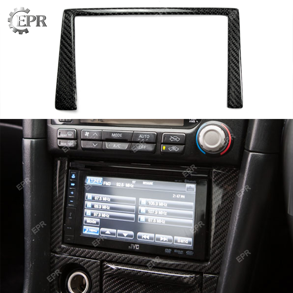 For Nissan Skyline R34 GTR Carbon Fiber Radio Surround Stick on(RHD)Body Kit Tuning Part Interior For GTR R34 Carbon Radio Cover