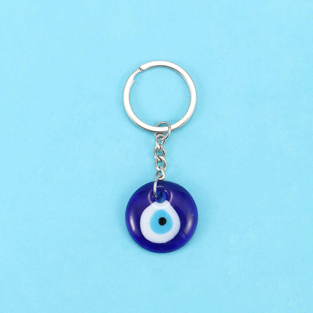 1 шт., модный брелок для ключей с надписью Lucky, турецкий, греческий, синий, подвеска, DIY, брелок, подвеска, подарок, аксессуары