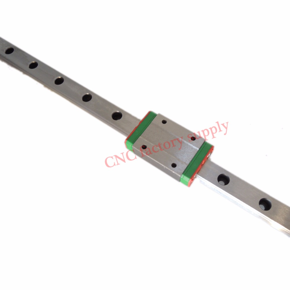 Hot Sale 3D print parts cnc Kossel Mini MGN9 9mm miniature linear rail slide 1pc MGN9 linear rail guide +1pcs MGN9 H carriage free shipping for mgn9 l300mm miniature linear rail slide and mgn9c h carriage for cnc router for xyz table