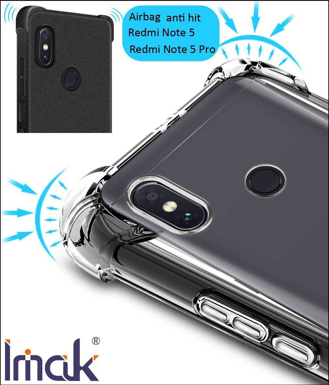 IMAK Airbag Cas Pour Xiaomi Redmi Note 5 Pro Note5 Baisse résistance anti frappé Choc Tpu Silicone Couverture