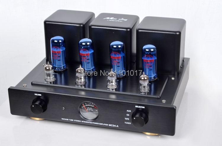 Meixing mingda MC34-A push-pull tubo amplificador de alta fidelidade exquis el34 lâmpada amp controle remoto