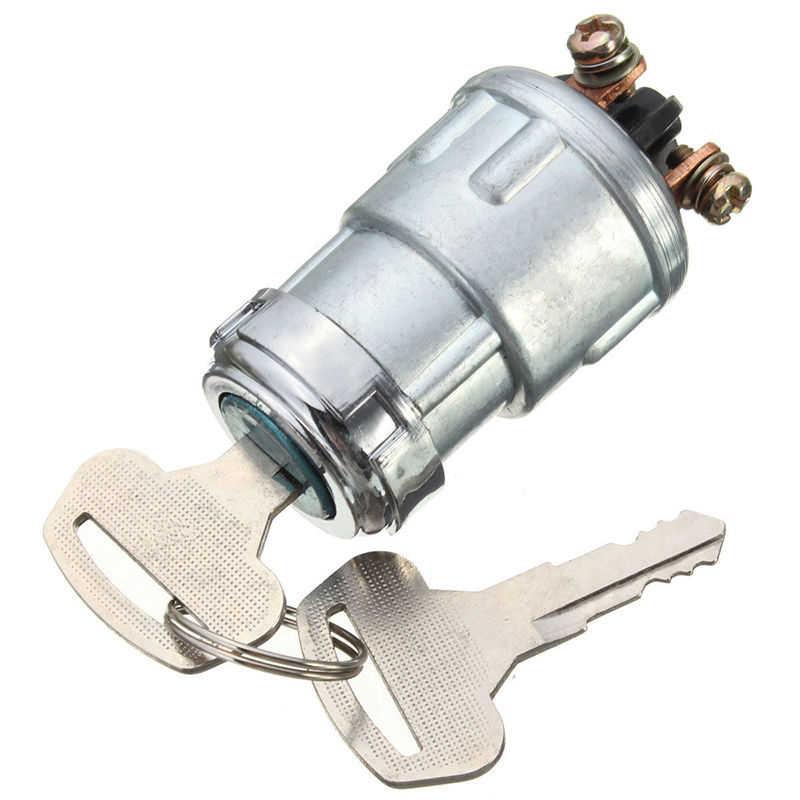 Cylindre de verrouillage de commutateur d'allumage de remplacement universel avec 2 clés pour voiture Auto