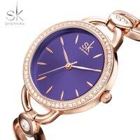 Shengke Luxury Women Watch Famous Brands Gold Fashion Creative Bracelet Watches Ladies Women Wrist Watches Relogio
