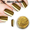 Magic Mirror Powder Silver Gold Metallic Silver Pigment Nail Glitter Nail Art Chrome Color Black White Base Gel Lacquer