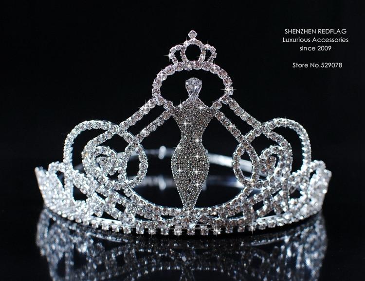 Mermaid Body Shape Sexy Tiaras Crowns 4.5