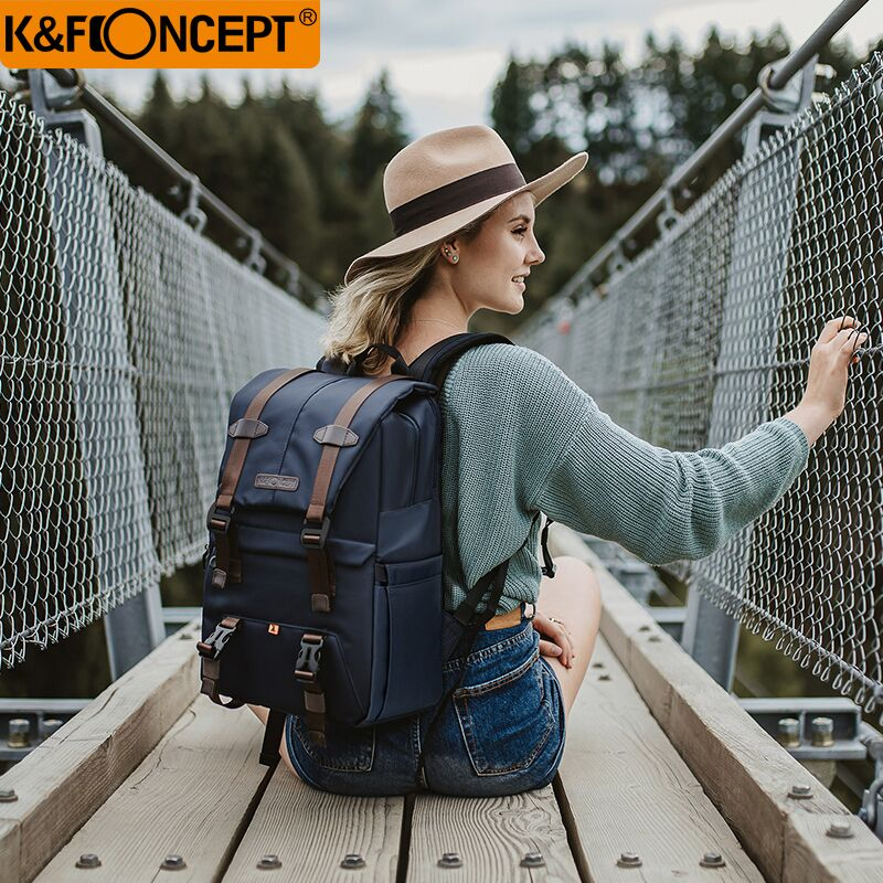K&F CONCEPT Shockproof Camera Backpack Waterproof Multifunctional Travel/Photo/Video/Tripod Bag With Dual-layer Design For DLSR