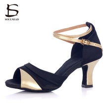 2017 Summer New Style Zapatos De Baile Latino Mujer Dancing Shoes High Heeled Soft Sole Tango