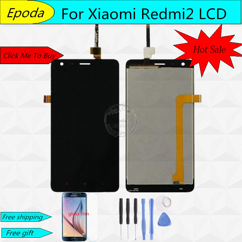 High Quality LCD Display Digitizer Touch Screen Assembly For Xiaomi Redmi 2 2A Redmi2 Hongmi 2