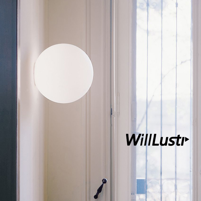 Modern lighting Diameter 14cm 25cm 35cm wall lamp wall sconce white glass shade light  Dioscuri parete ceiling lamp soffittoModern lighting Diameter 14cm 25cm 35cm wall lamp wall sconce white glass shade light  Dioscuri parete ceiling lamp soffitto
