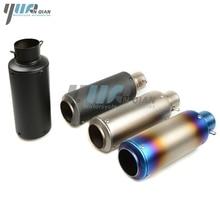 YUANQIAN Modifizierte Abgas CBR CB400 CB600 CBR600 CBR1000 CBR250 Motorrad Auspuffrohr Schalldämpfer CBR125 ER6N ER6R YZF600 Z750
