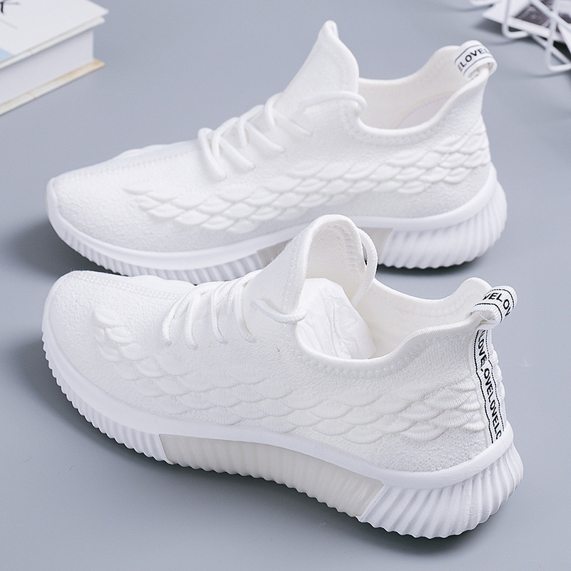 2019 Women Sneakers Fashion Socks Shoes Casual White Sneakers Summer Knitted Vulcanized Shoes Women Trainers Tenis Feminino