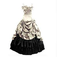 (LD014) Womens Sleeveless Party Cosplay Costume Satin Gothic Lolita Ball Gown Costumes Victorian Dress Customized