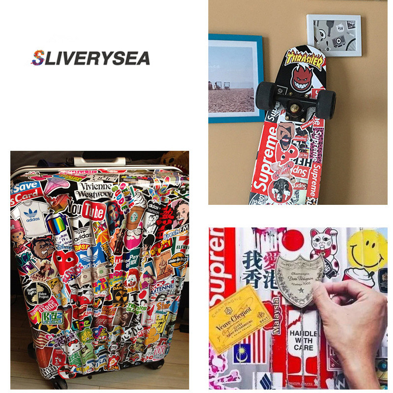 Image 5 - 7Pcs Multi Color Unicorn Car Sticker Waterproof Cartoon Horse For Computer Personalized Suitcase Notebook Car Stickers #B1312-in Car Stickers from Automobiles & Motorcycles