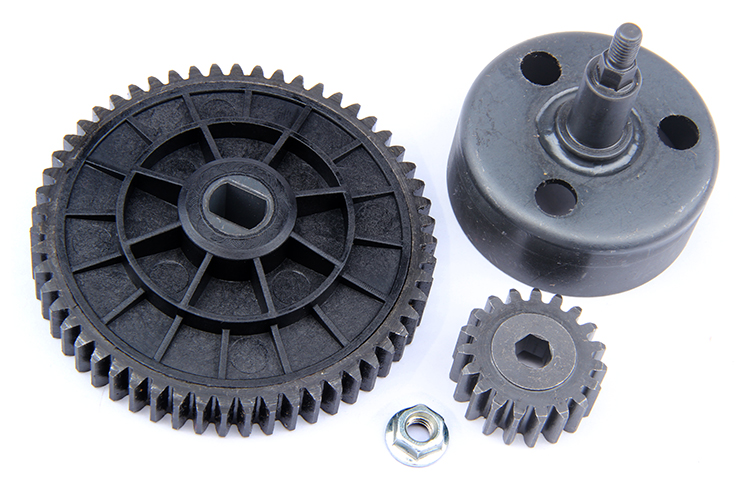 1/5 scale rc baja parts Rovan rc car spare parts New upgraded clutch bell gear set ( high speed 19/55) 95077 front diff gear differential gear for wltoys 12428 12423 1 12 rc car spare parts