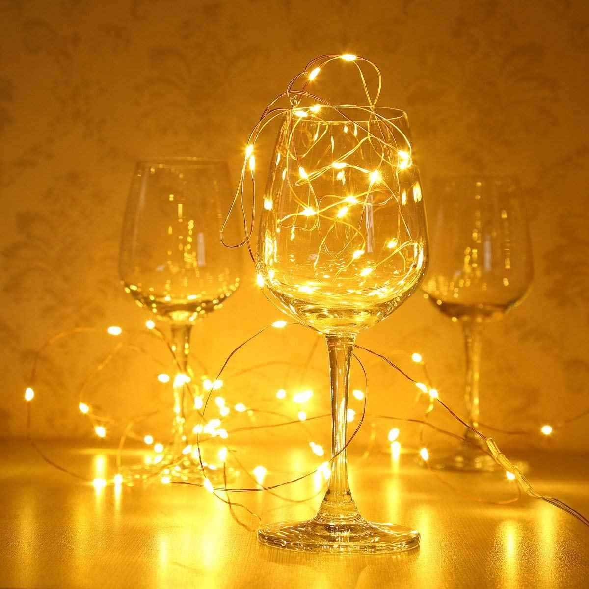 Светодиодный гирлянды для Рождественская гирлянда Новогодняя гирлянда вечерние свадебные украшения дома сказочные огни батарея