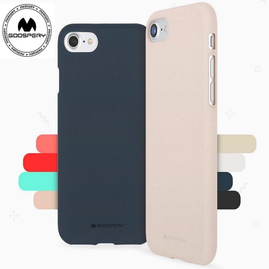 detailed look eafb8 6b6ab US $3.13 5% OFF|original korea mercury goospery soft feeling matte tpu  phone case bag for iphone XR XS MAX X 6 7 8 6S PLUS 5S SE factory price -in  ...