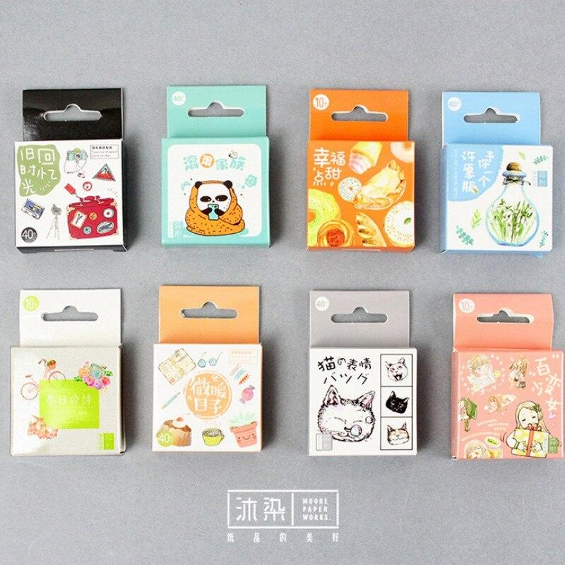 40pcs/box Special shaped joint sticker Album scrapbooking diary diy decoration paper sticker children favorite kawaii stationery