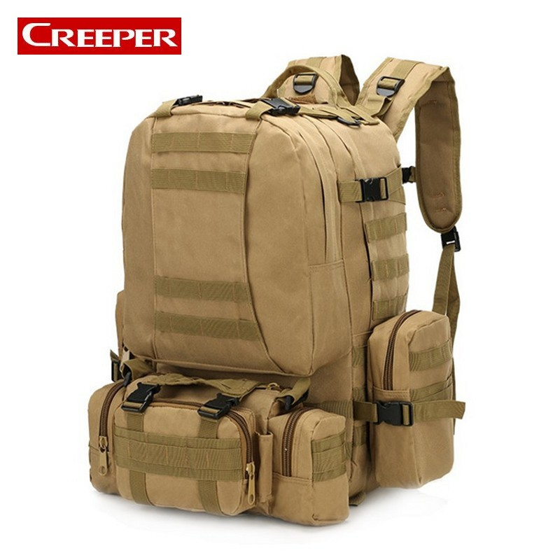 Free Shipping 11 Colors New Large 50L Molle Assault Tactical Outdoor Military Rucksacks Backpack Camping Bag Hike Travel Mochila free shipping men women unisex outdoor military tactical backpack camphiking bag rucksack 50l molle large big ergonomic gear