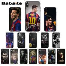 1be56acbe7c Messi patrón de fútbol TPU suave accesorios para teléfono móvil funda para  iphone X XS MAX 8 7 plus 5S SE 6 s XR cubierta Babait.