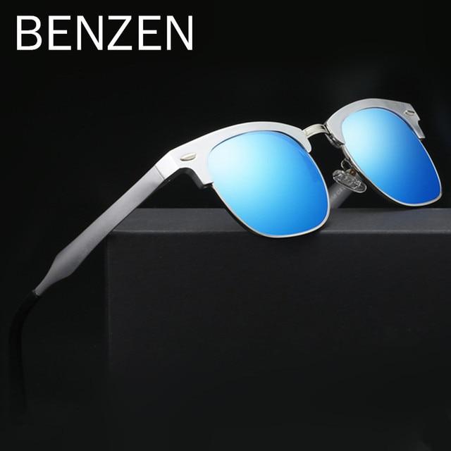 331ab807d380b7 BENZÈNE lunettes de Soleil Hommes Marque Designer Coloré UV Protection  Lunettes de Soleil Mâle Al-