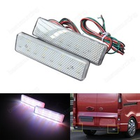 2pcs LED Rear Bumper Reflector Light For Opel Vauxhall Vivaro Movano A Clear Lens CA328
