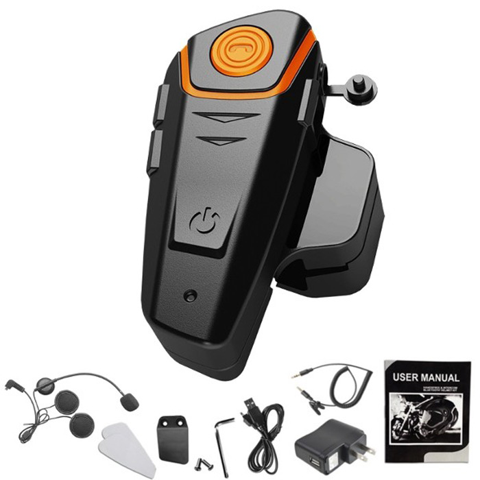 BT-S2 1000m Bluetooth Headset Motorcycle Intercom Answer FM Radio Interphone for Wired Wireless Helmet 300 Hours Long Standby