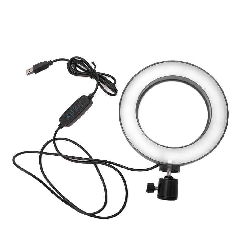 Dimmable LED Light Fluorescent Flash Lamp Ring Camera Photo Video Photography Studio Makeup Beauty Selfie