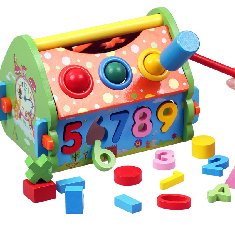 Smart house multifunction digital geometry blocks paired homes early education wooden toys building blocks baby toys gift