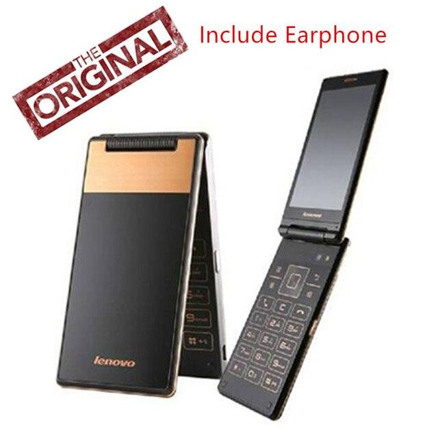 "Original nuevo Lenovo A588T Flip teléfono celular MTK6582 Quad Core 1,3 GHz 512 MB RAM 4G ROM Android 4,4 5.0MP Cámara 4,0 ""800*480 P GSM"