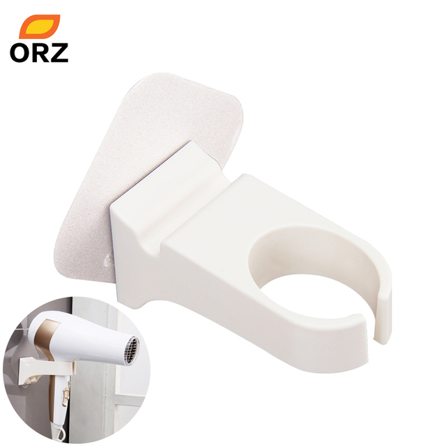 orz hair dryer holder handle stand rack wall mount magic sticker bathroom toilet wall shelf hair