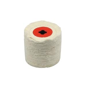 Image 3 - 1 stück 120*100*19mm + 4 Nut, Baumwolle Tuch Polieren Polieren Rad für Metall Finishing