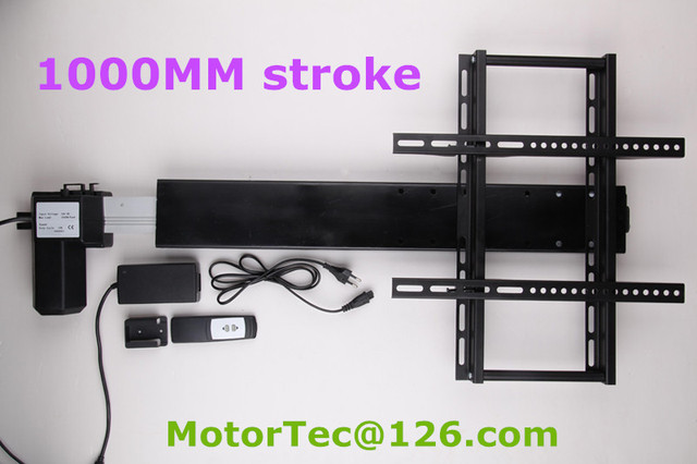 Buy 1000mm stroke automatic height for Motorized vertical tv lift