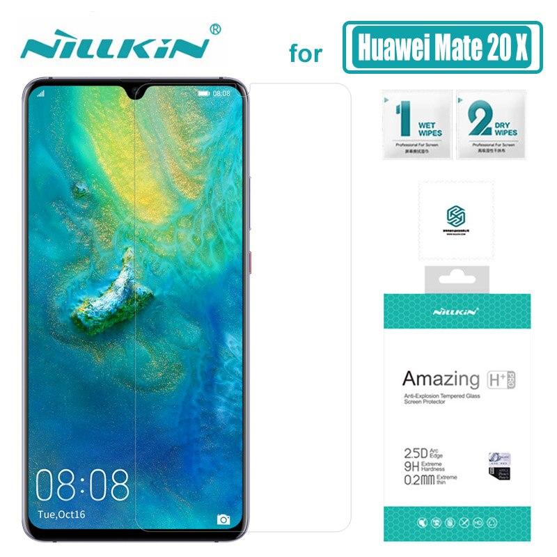 Nillkin para Huawei Companheiro 20 X H Vidro + Pro 20 20X Companheiro de Vidro Temperado Protetor de Tela para Huawei Companheiro X 2.5D Magro Vidro Nilkin
