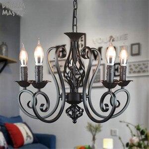 Image 5 - Zwarte Vintage Industriële Hanglamp Nordic Retro Lichten Ijzer Loft Opknoping Lamp Keuken Eetkamer Platteland Home Verlichting