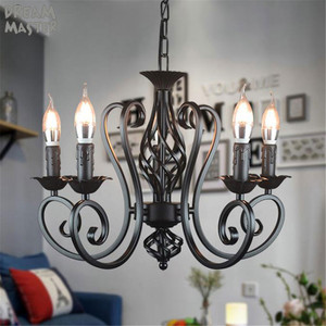 Image 5 - black vintage industrial pendant light nordic retro lights iron loft hanging lamp kitchen dining room Countryside home lighting