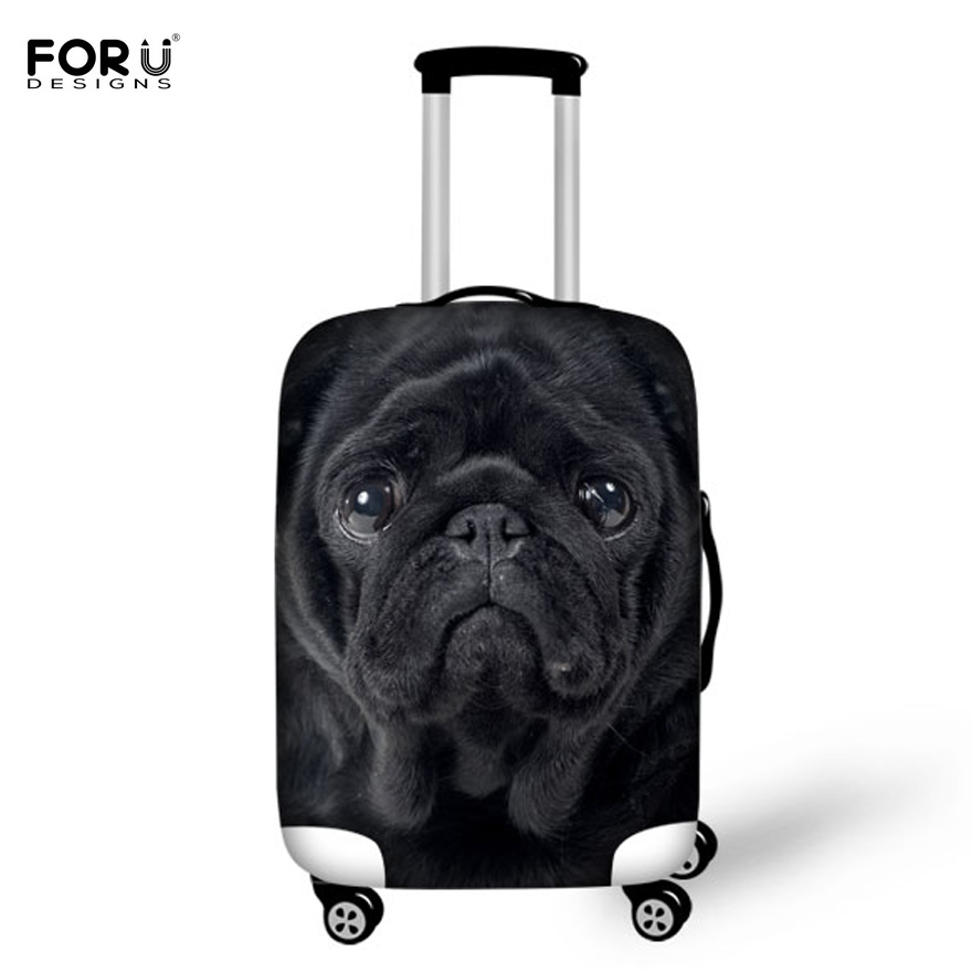 FORUDESIGNS 3D Dogs Animal Travel Protective Luggage Covers For 18-30 Inch Trunk Case Trolley Suitcase With Zipper Waterproof