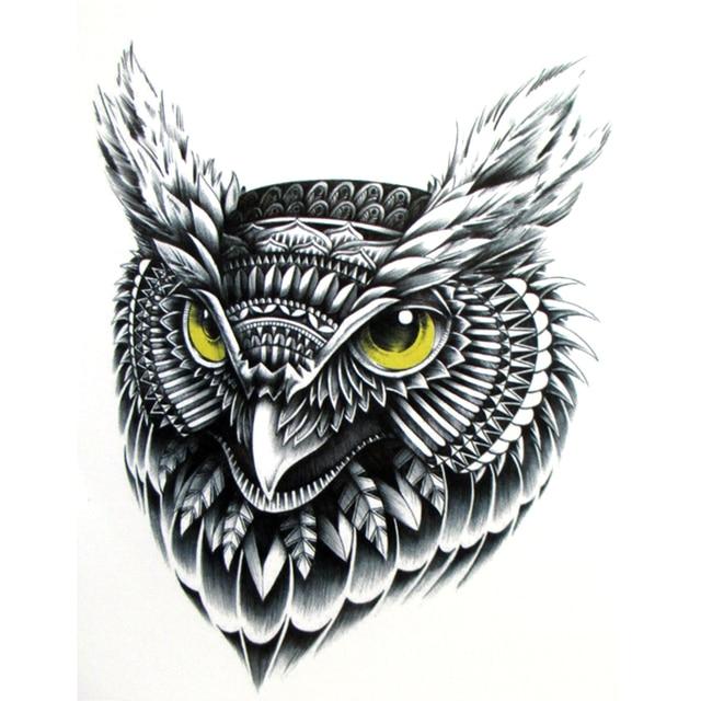 Tatuaje Temporal Volador Pegatinas De Tatuaje De Búho Realistas