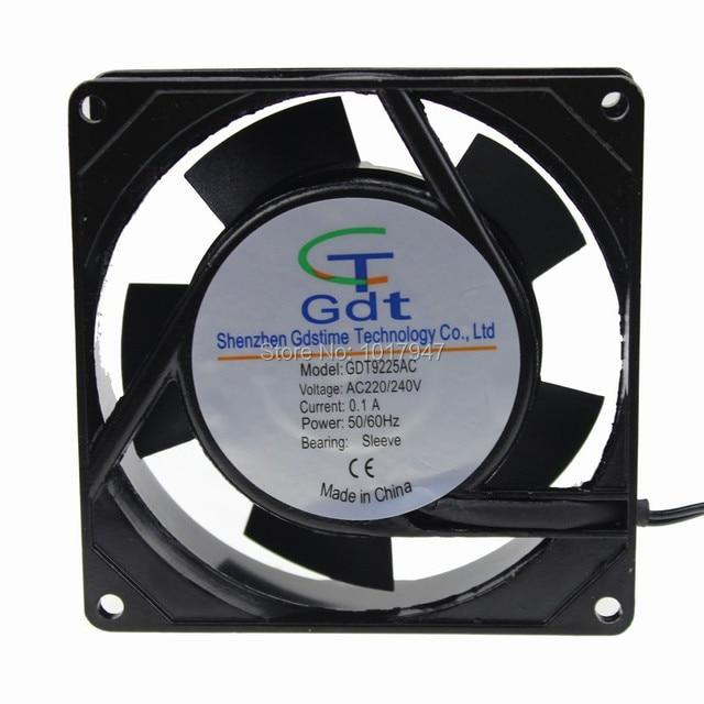1 Pieza Gdstime AC 220 V 240 V 9 CM 90 MM 92x25mm Metal Fuerte viento Industrial ventilador