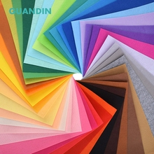 GuanDin,Mix Solid Color Felt/Polyester Nonwoven Fabric/Thickness 1mm/for DIY Sewing Toys,Crafts Dolls/40pcs in 1 pack/30cmx30cm