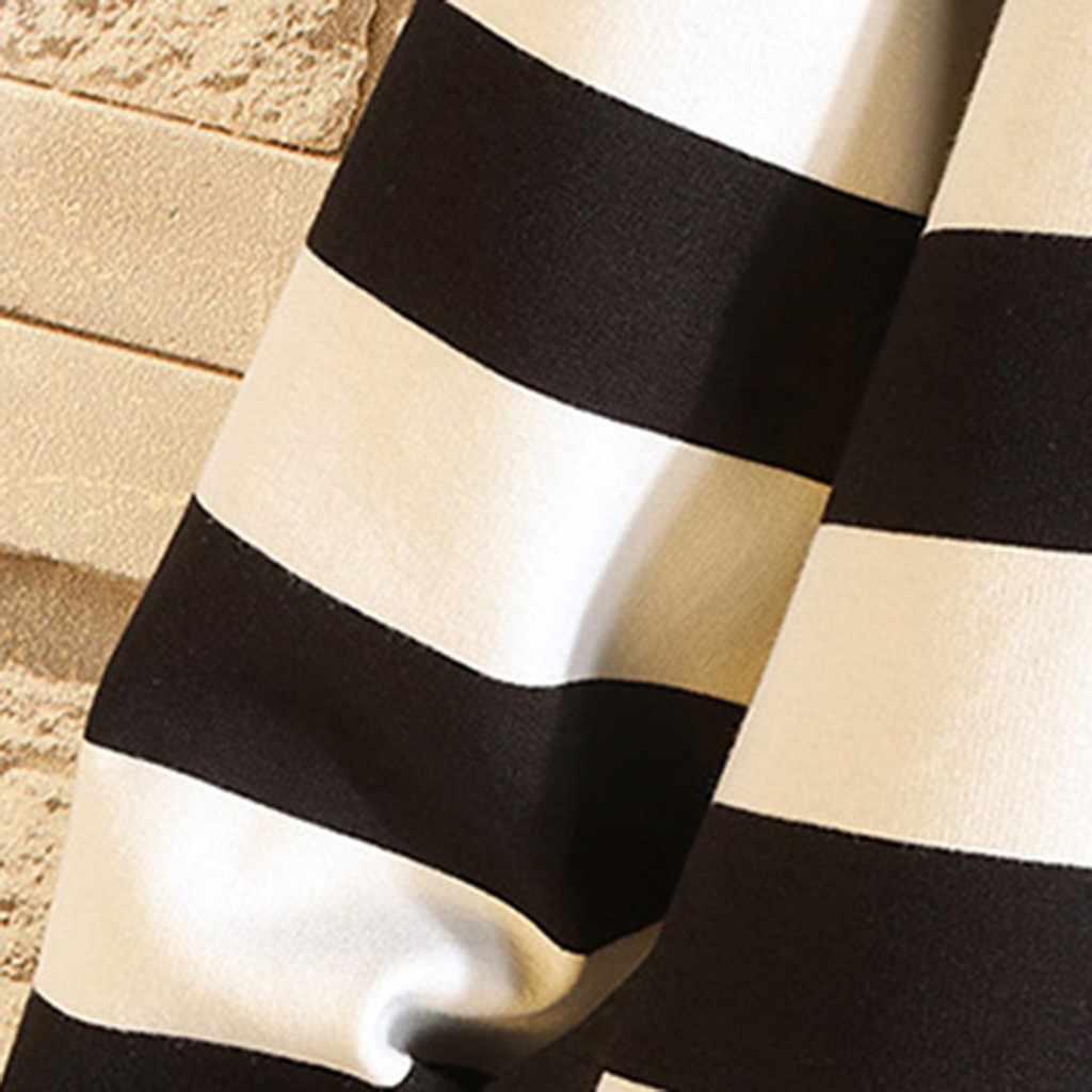JAYCOSIN felpa Da Uomo straniero le cose di Moda casual più il formato A Strisce a maniche lunghe Accappatoio Comodo camicette Cappotto 9723