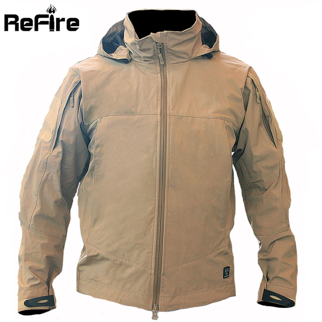 Urban Tactical Waterproof Softshell Outdoor Jacket Men Many Pockets Military Army Clothes Sport Rain Hoody Camping